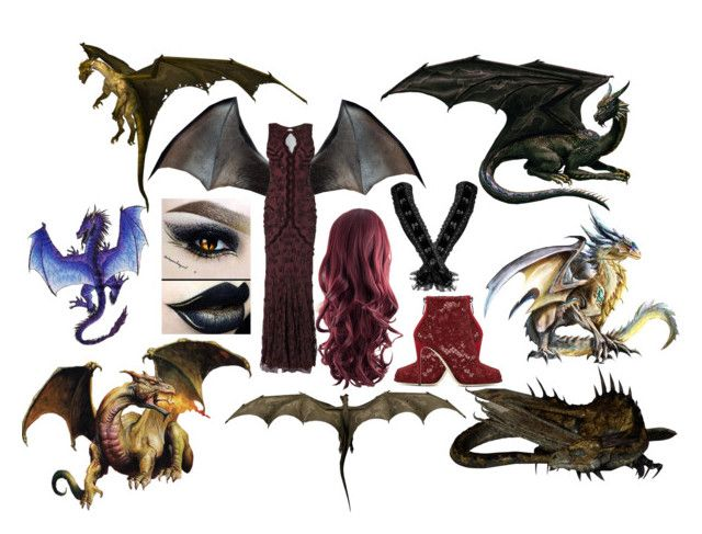 Dragon by slytheriner on Polyvore featuring Phase Eight, Dolce&Gabbana and Nexus