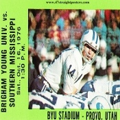 1976 BYU vs. Southern Mississippi Football Ticket Coasters.™ Best Cyber Monday Gifts. Best Cyber Monday Gifts 2012! Best Cyber Monday football gifts! 47 STRAIGHT™   http://www.bestcybermondaygifts.com/ Best Cyber Monday Gifts! #47straight #bestcybermondaygifts #cybermonday