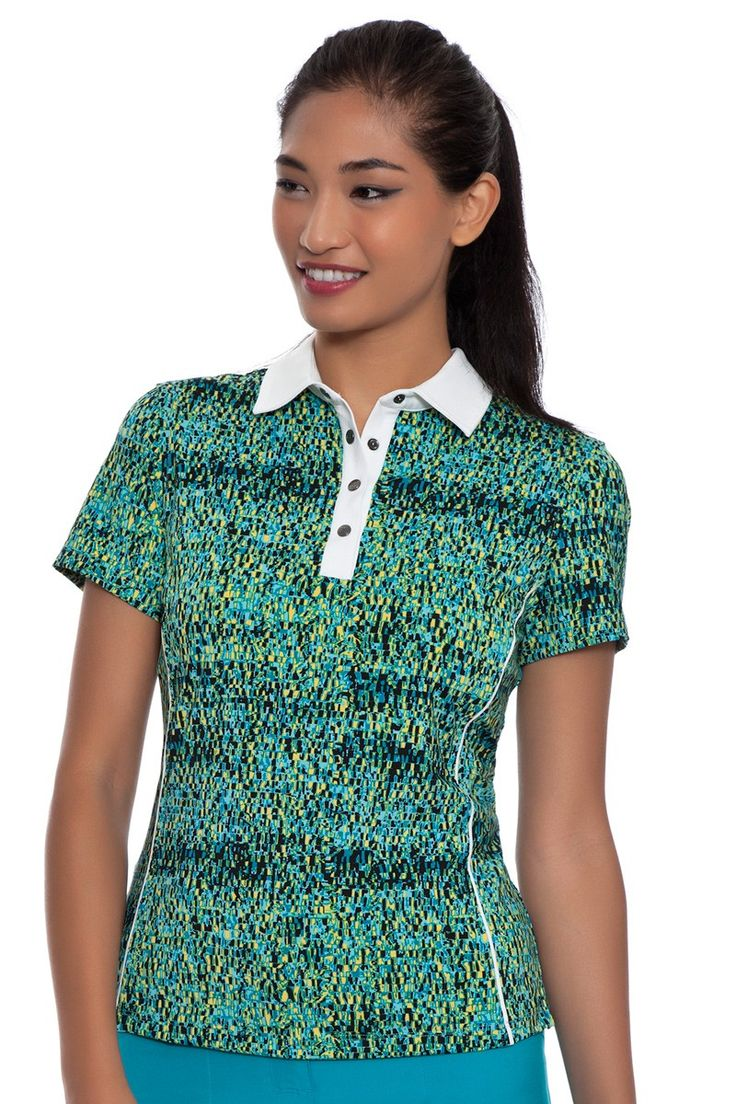 Anyar Short Sleeve Golf Polo Shirt: golf shirts for women, golf tops, women golf shirt : FREE SHIPPING on orders over $75