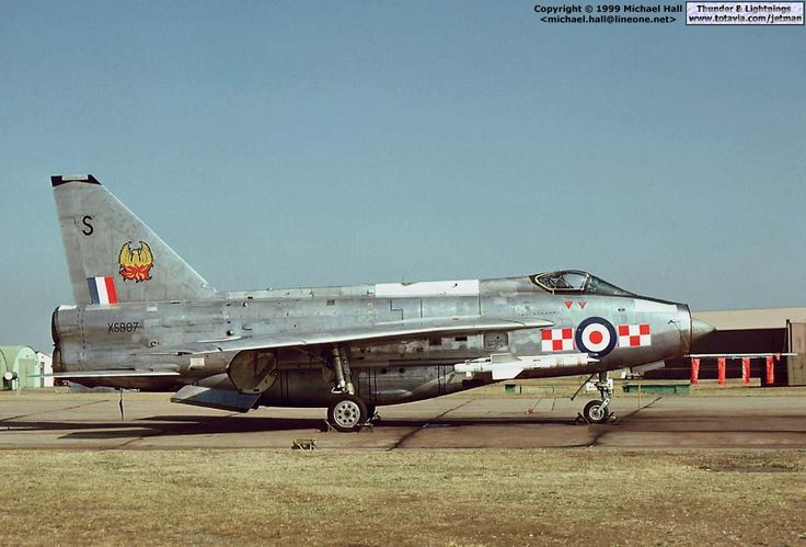 Thunder & Lightnings - English Electric Lightning - Photo Gallery - F.6 XS897 in the static at RAF Lakenheath's airshow of 1975.
