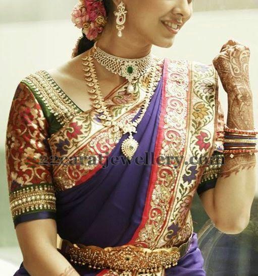 Jewellery Designs: Bride Mango Haram and Choker