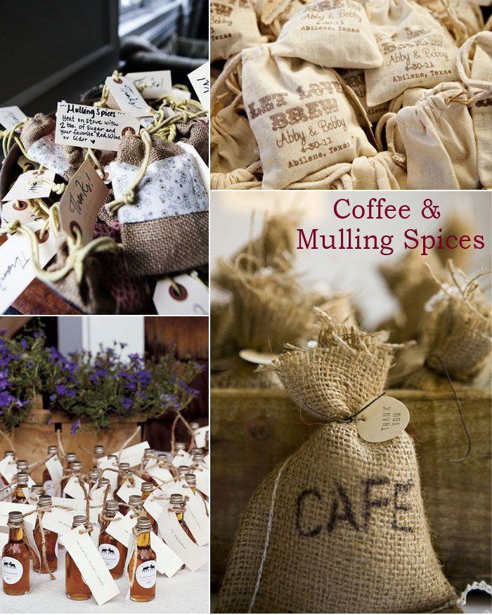 Rustic Fall Wedding Favor Ideas: Rustic Autumn Wedding Favor Inspirations