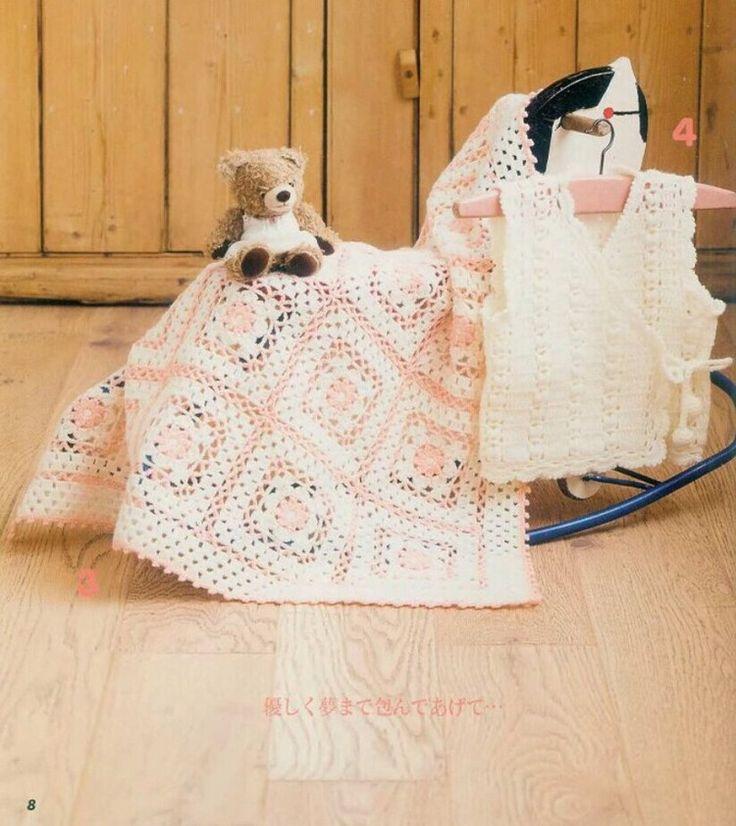 블로그 0111 - N 스타일 아기 담요 크로 셰 뜨개질 - 0111