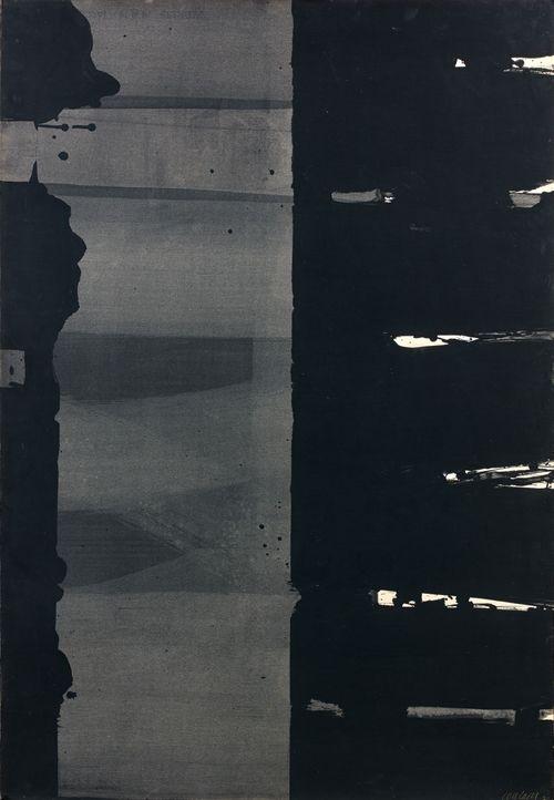 Pierre Soulages (French, b. 1919), Gouache sur papier, 108,5 × 74,5cm, 1977