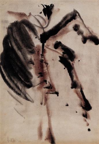 Adnan Çoker, Zen 50.00 x 35.00 cm. 1962 Kağıt üzerine guaj İmzalı