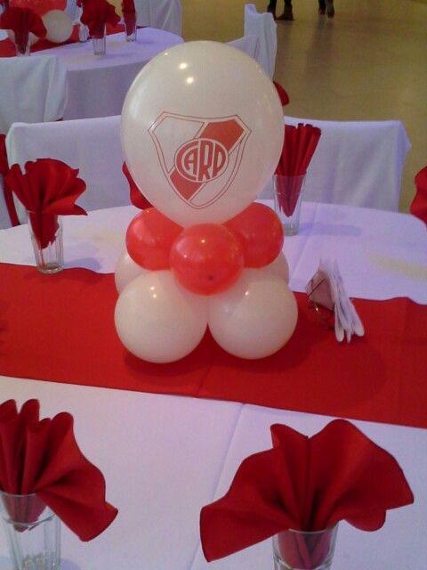 Centro de mesa river plate deco fiestas pinterest - Decoracion para mesas de centro ...