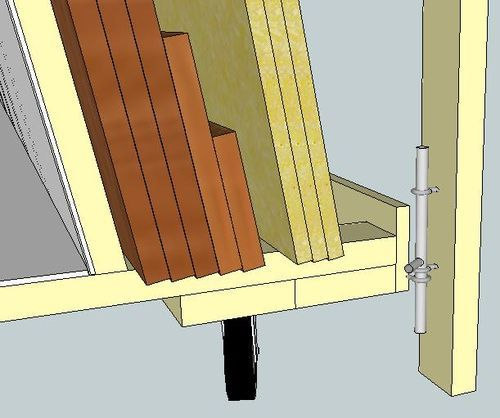 Virtual Designs in Sketchup #5: Rolling Wood Storage Rack