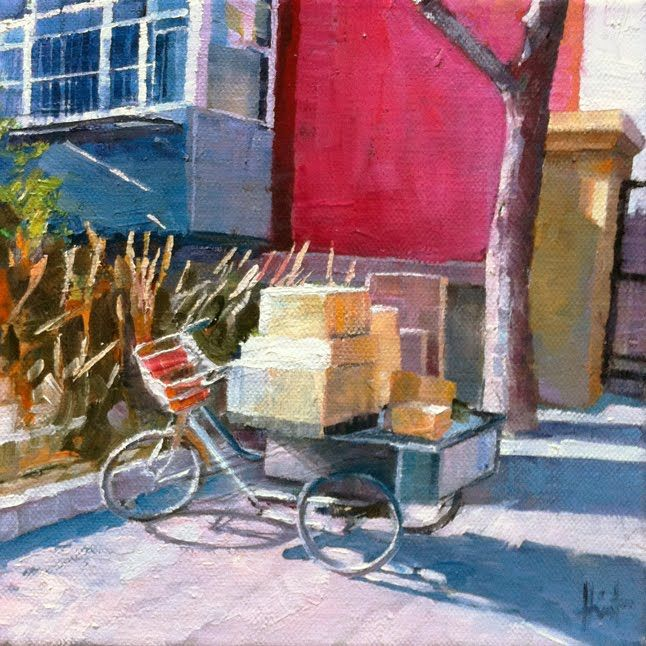 Chinese Delivery by Liza Hirst SOLD