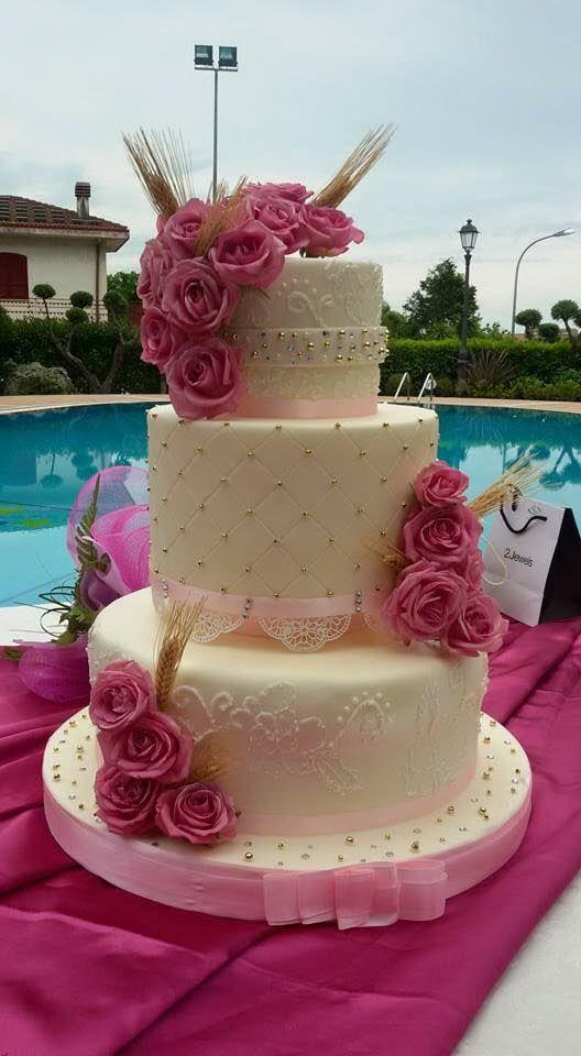 Pink cake roses