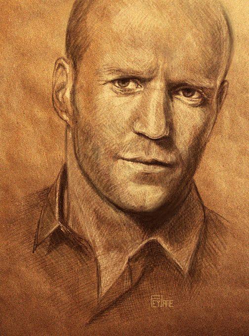 Jason Statham by Feyjane / First pinned to Celebrity Art board here... http://www.pinterest.com/fairbanksgrafix/celebrity-art/ #Drawing #Art #CelebrityArt