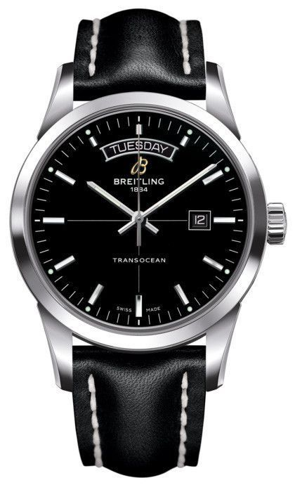 @breitling Watch Transocean #bezel-fixed #bracelet-strap-leather… - mens luxury watches, large mens watches, mens big face gold watches