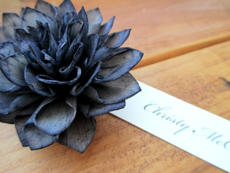 Wooden Rustic Wedding Place Cards