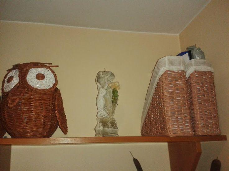 sowa i dokumentowniki z papierowej wikliny
