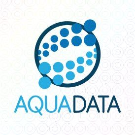 Exclusive Customizable Dots  Logo For Sale: Aqua Data | StockLogos.com