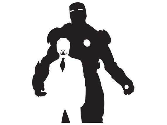 Iron Man - Tony Stark - Silhouette 2 - Vinyl Decal - SUP ...