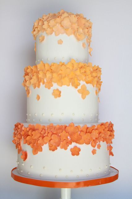 Fondant Cakes « Sweet & Saucy Shop Sweet & Saucy Shop maybe the top one for kelly and christens wedding?  Add a topper of course
