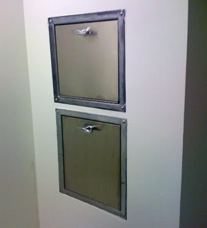 Laundry Chute Kits | And each floor has a trash room with chute, for anything you should ...