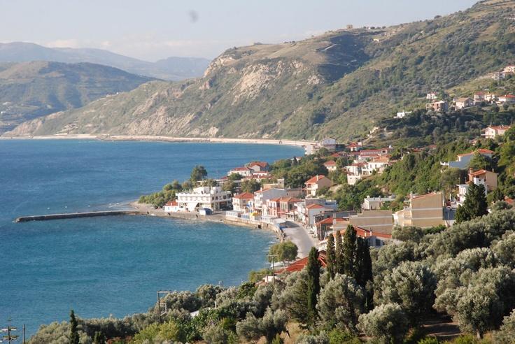 Platana village on Evia Greece