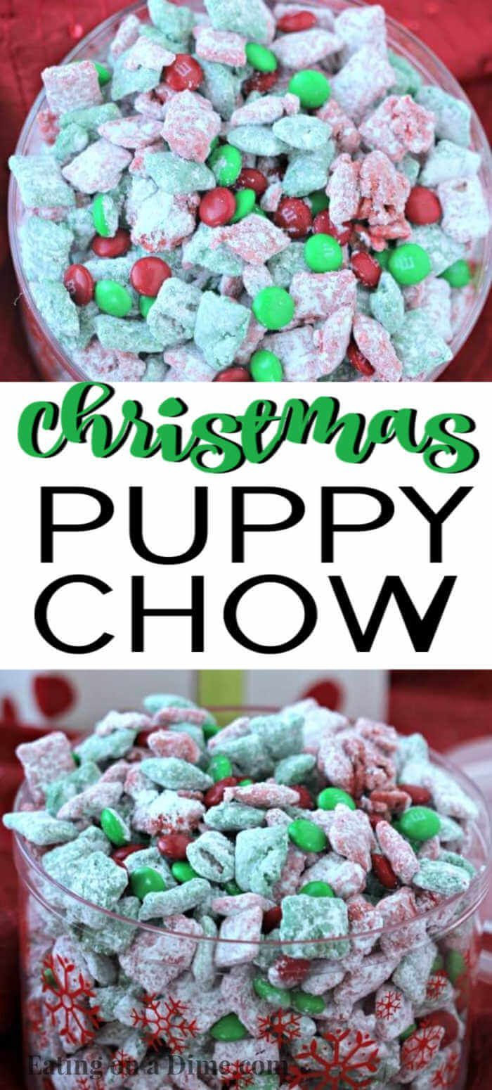 Christmas Puppy Chow Recipe With Images Puppy Chow Christmas Puppy Chow Recipes Easy Puppy Chow Recipe