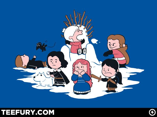Winter is Here by queenmob - $10 shirt sold on April 2nd at http://teefury.com - More by the artist at http://www.facebook.com/jungshirts: Thrones Shirts, Thrones Peanut, Games Of Thrones, Design Galleries, Charli Brown, Peanut Games, T Shirts, Charlie Brown, Peanut Style