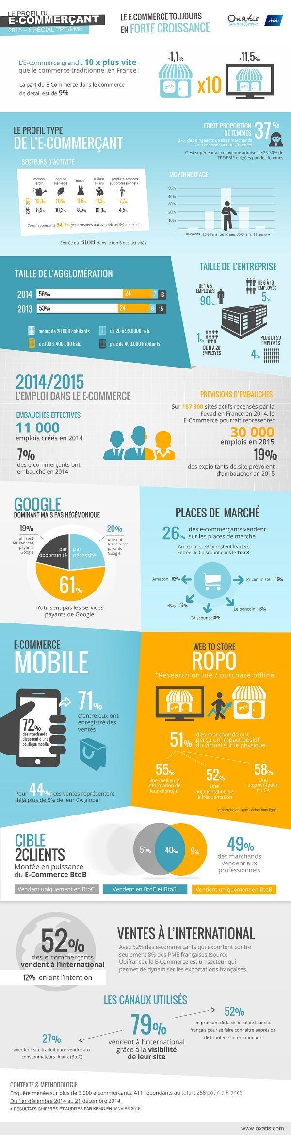 Infographie : le profil du e-commerçant - L'Echo Touristique