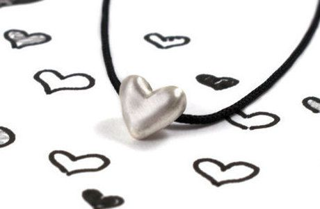Heart necklace sterling silver pendant all-day by Akatergasto