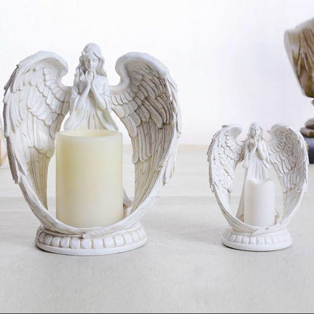 Barato Decoração de casamento anjo de cristal candelabro castiçal lanternas para casamentos de decoração, Compro Qualidade Castiçais diretamente de fornecedores da China:   [Xlmodel]-[Custom]-[29235]     [Xlmodel]-[Produtos]-[29234]        1par Hot Resina Artesanato Vintage misterioso mãe e