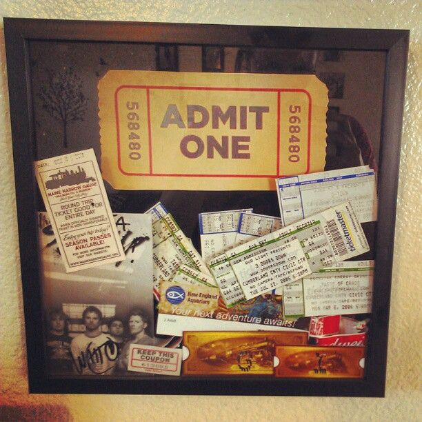 Love it...now I can keep concert tickets, movie stubs etc and have a way to display them!!""