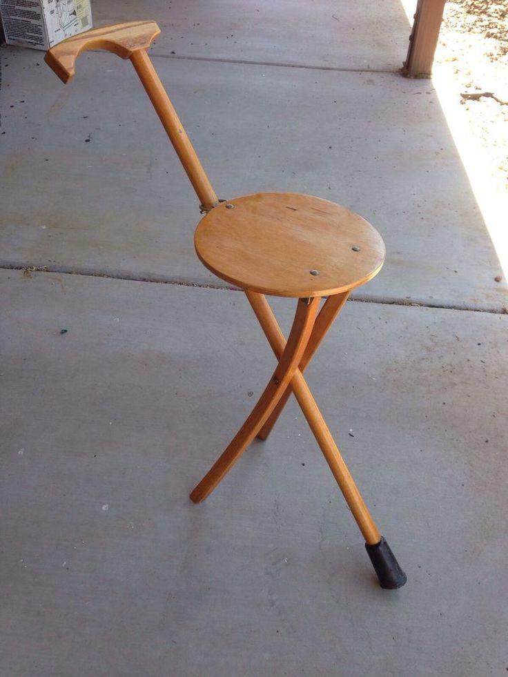 """Vintage Walking Cane Seat """" STOKKESTOL """" ENERT H W S"""