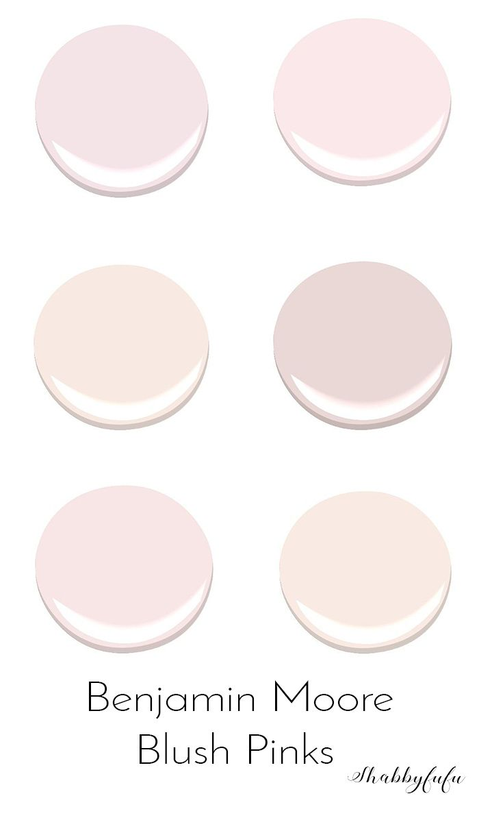 How To Decorate A Room Beautifully With Blush Pink. Subtle blush paint colors on trend from Benjamin Moore for walls and DIY furniture projects.