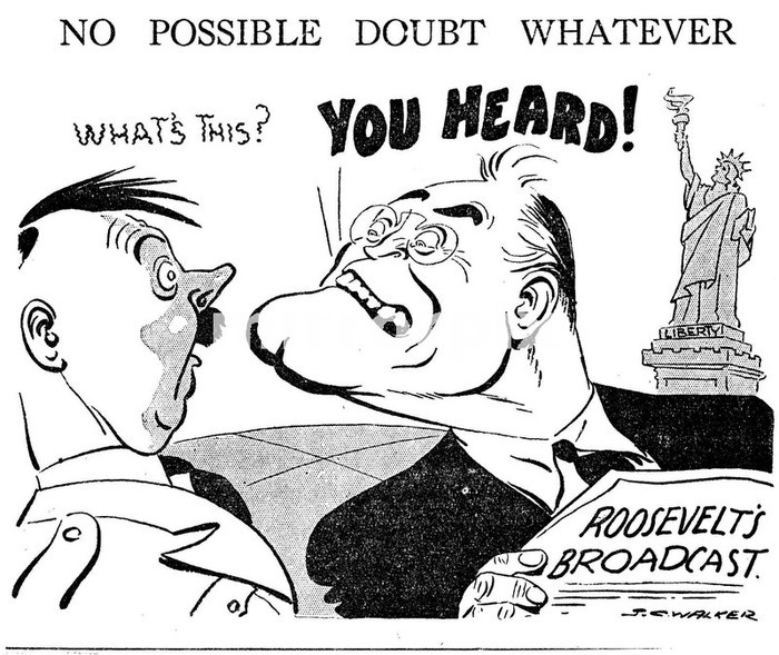 JC Walker World War II Cartoon. No Possible Doubt Whatever