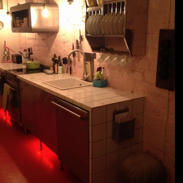 my kitchen, crappy photo i know