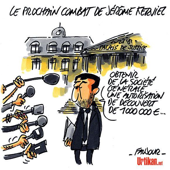 Jérôme Kerviel ne doit plus qu'un million d'euros à la Société Générale - Dessin du jour - Urtikan.net