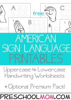 Free ASL / American Sign Language PRINT-ABLES, font, signs, hands, letters, alphabet etc. Make posters, #sign boats, worksheets, etc with these #ASL print-outs.