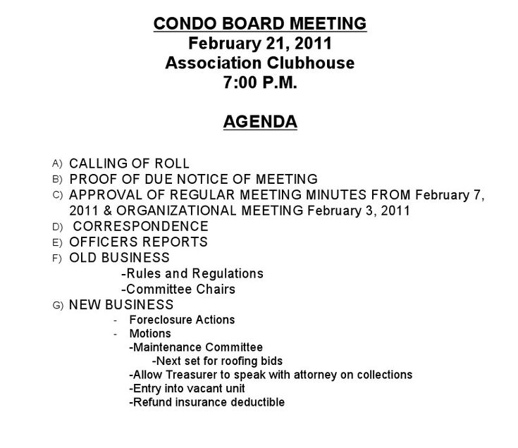 Related Image Board Meeting Business Rules Meeting Agenda Template