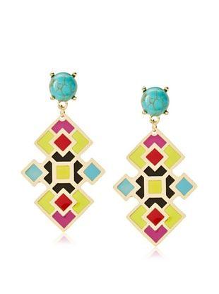 61% OFF Noir Acapulco Mosaic Small Earrings