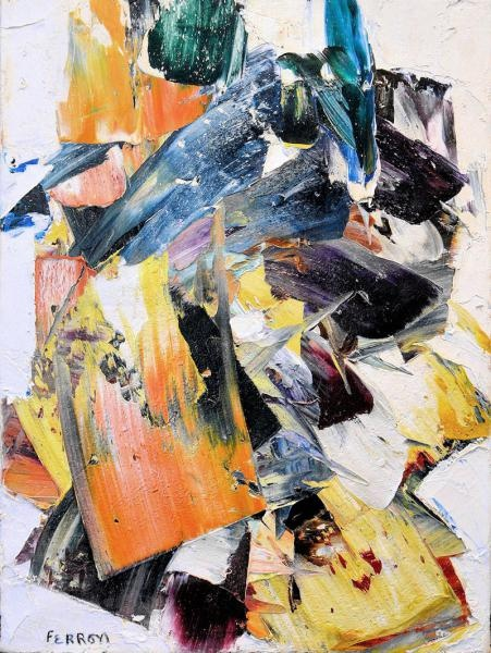 Marcelle Ferron, Composition, 1961 Oil on canvas, signed lower left: FERRON 72.4 x 54 centimeters, 28.5 x 21.25 inches