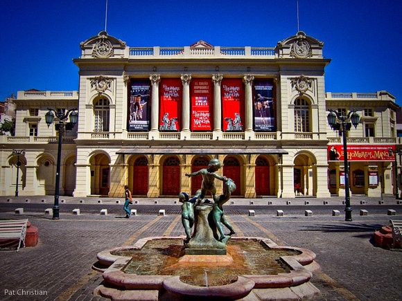 The Teatro Municipal De Santiago in Chile is a monument to artistry. Giuseppe Verdi's opera Ernani marked the theater's opening in 1857, and the elegant neoclassic building continues to present leading concerts, operas and ballets throughout the year. ~TravelSmith~