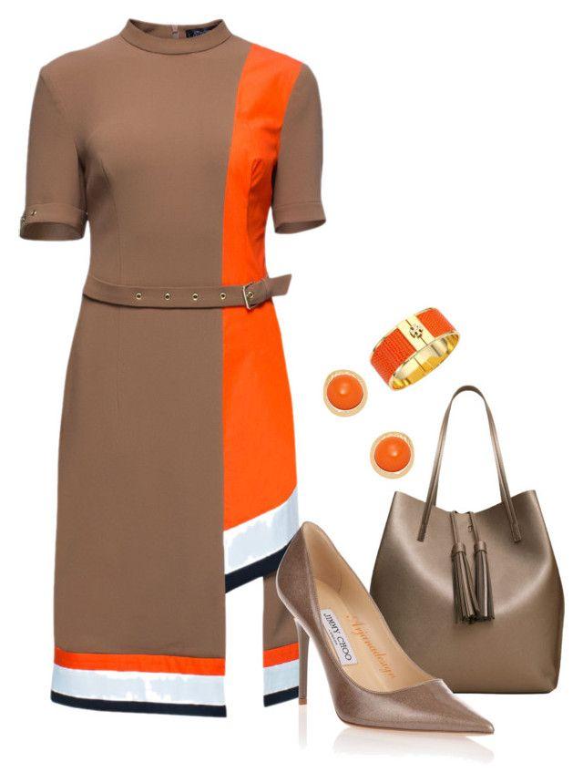 LATTORI DRESS by arjanadesign on Polyvore featuring polyvore fashion style Lattori Jimmy Choo MANGO Tory Burch Kenneth Jay Lane clothing WorkWear