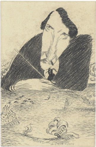 Robert Louis Stevenson (incisione), 2002 / Tullio Pericoli