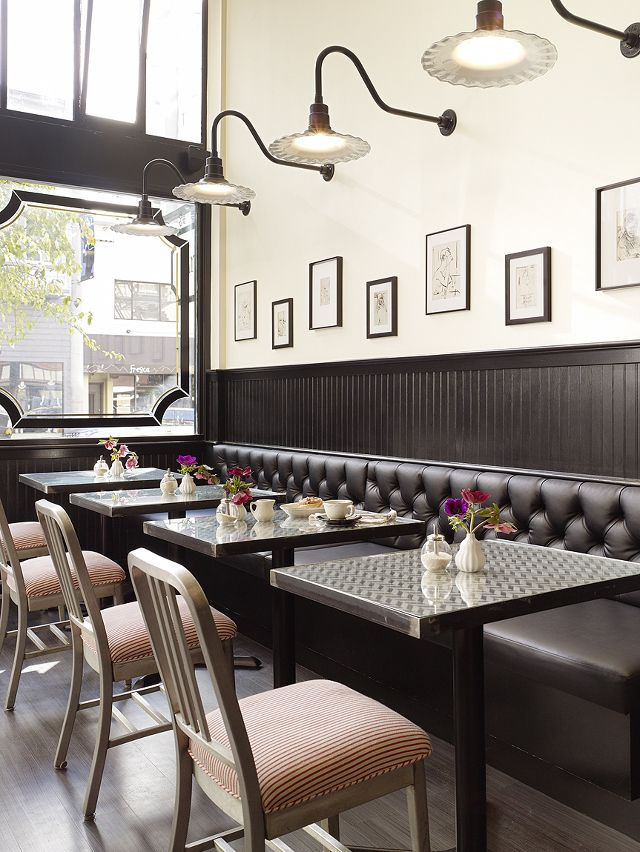 Banquette Seating | Tufted Upholstery | Gallery Wall | Restaurant Design | Commercial Interior | Architecture Ideas | Furniture Seating