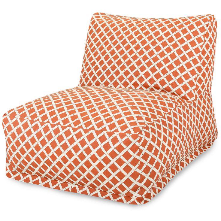 Burnt Orange Bamboo Bean Bag Chair Lounger