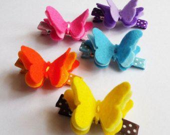 butterfly felt hair clips template - Pesquisa Google