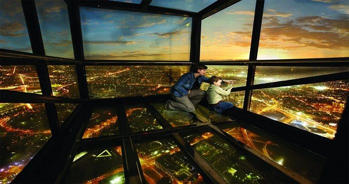 Located on level 88 of the Eureka Tower in Southbank is the Eureka Skydeck, also known as the Eureka Observation Deck. The Eureka Observation Deck stand at 297 metres above sea level.