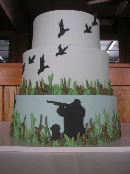 My man's not a duck hunter but this is a great idea for a birthday cake for someone who is...my brother-in-law