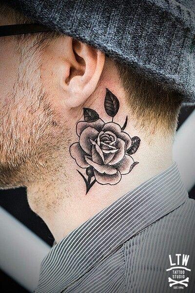 neck tattoo men - Pesquisa Google