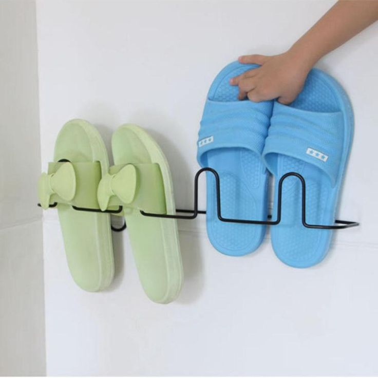 NAI YUE Paste type iron rack shelf household living room bathroom slippers hanging bracket simple shoes shoes storage rack #10