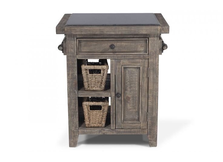 small granite top island with baskets bobu0027s discount furniture
