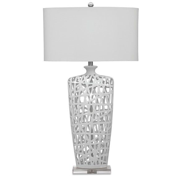 Erowin 35-inch White Ceramic Table Lamp | Overstock.com Shopping - The Best Deals on Table Lamps