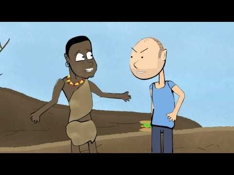 Karl Pilkington argues with a starving African (Ricky Gervais) - YouTube